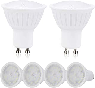 GU10 LED Bulbs Dimmable LED GU10 Base Flood Light Bulbs 3W 300 Lumens 4000K Natural White,25W Halogen Bulbs Equivalent,120 Degree Wide Flood Recessed Ceiling Track Lighting Home Decor Lights - 6 Pack