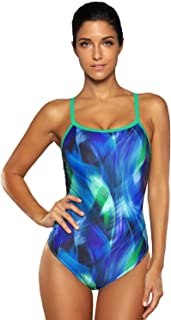 V FOR CITY Women's Athletic Swimwear Racerback One Piece Sports Training Swimsuit Conservative Bathing Suit