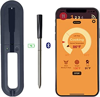 DESPFUL Wireless Meat Thermometer - 33ft Range True Smart Bluetooth Connectivity Flesh Thermometer for Grill Oven Smoker R...