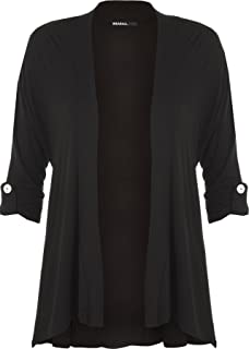 49ddb2149 WearAll New Ladies Plus Size Short Sleeve Button Open Cardigan Womens  Stretch Top Sizes 12-