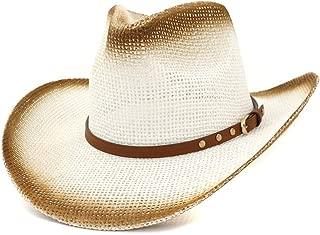 XinLin Du Retro Summer Straw Cowboy Hat Women Men Outdoor Beach Hat Wide Brim Narrow Belt Decoration Lady Sun Hat