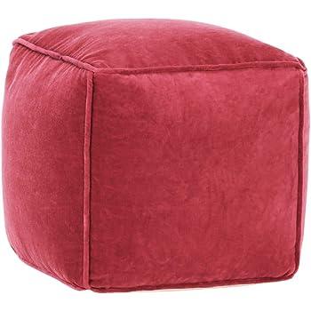 vidaXL Pouf Morbido Comodo Sedile Relax Decorativo Robusto Sgabello Poggiapiedi Sedia Arredo Salotto in Velluto di Cotone 50x35 cm Antracite