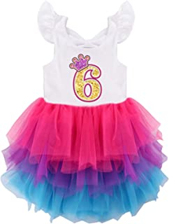 Spring/Autumn Unicorn Birthday Party Princess Girl Dresses Long Sleeve Girls Outfits