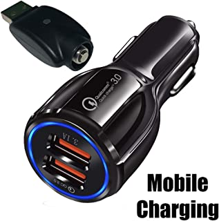 510 Thread Charger Mobile Charge Kit with Dual USB Fast Charging Car Charger 5V 3.1A QualComm