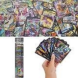YNK Cartes de Jeu Pokemon, Ensemble de figurines Pokemon Cartes Pokemon GX, Pokemon Vmax, Pokemon V Cartes, Cartes à Collectionner Pokemon, Jeu de Carte Amusant Jeu de Carte pour Enfant (1)