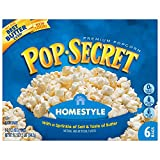 Pop Secret Microwave Popcorn, Homestyle, 3.2 Ounce, Pack of 6