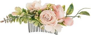 Sponsored Ad - Merroyal Bride Wedding Flower Hair Comb Flower Girls Bridesmaids Hair Accessories Hair Piece for Women and ...
