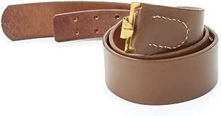 German WWI Brown Leather Equipment Belt- Size 32-36 (81cm-91cm)