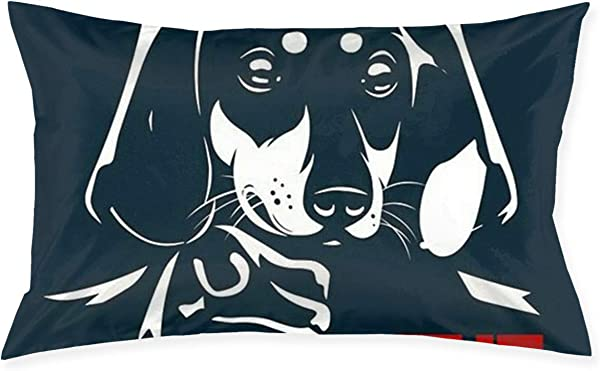 Dachshund 20 X 30 Bed Pillow Case Cover Cushions Queen Size Standard Throw Pillow Covers