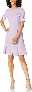 فستان دونا مورجان للنساء بأكمام قصيرة وبتصميم ضيق