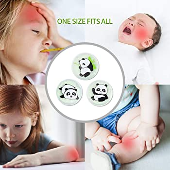 """NEWGO®Hot Cold Pack 3 Pack Boo Boo Ice Pack for Kids's for Kid's Injuries, Pain Relief, Fever, Wisdom Teeth (4.3"""" x 4..."""