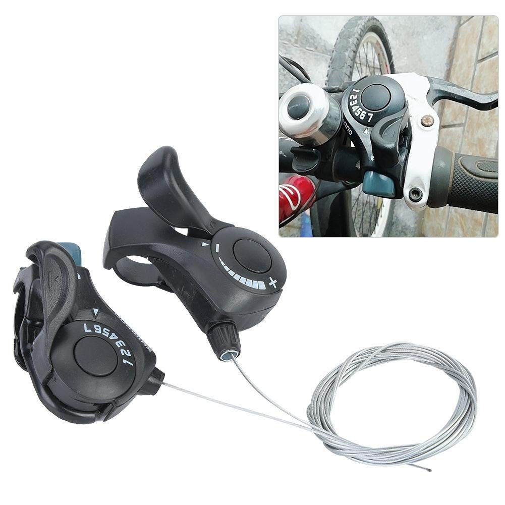 Bicycle Shift Lever - One Pair Outdoor Mountain Bicycle TX-30 Thumb Gear Shifters 3X7 Speed Shift Lever and Set