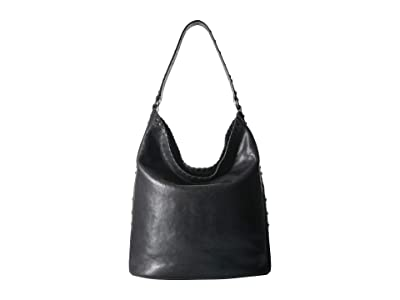 Frye Concho Studded Hobo (Black) Hobo Handbags