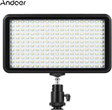Paneld Luz LED Andoer Antorcha Led Video 228pcs Ultra Fino 3200K-6000K para Estudio Fotografía para Canon Nikon Sony Pentax Panasonic Olympus DSLR DV Videocámara (5#)