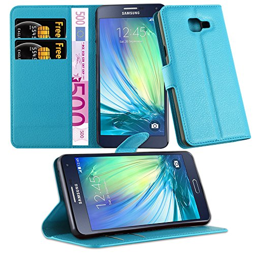 Cadorabo Funda Libro para Samsung Galaxy A5 2016 en Azul Pastel - Cubierta Proteccíon con Cierre Magnético, Tarjetero y Función de Suporte - Etui Case Cover Carcasa