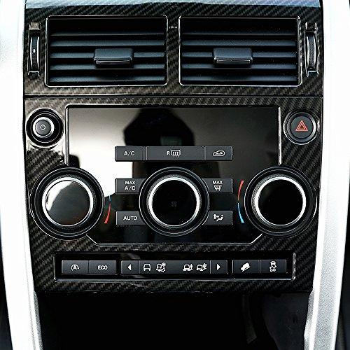 Elemento decorativo/cornice in plastica ABS, color fibra di carbonio, per mascherina autoradio