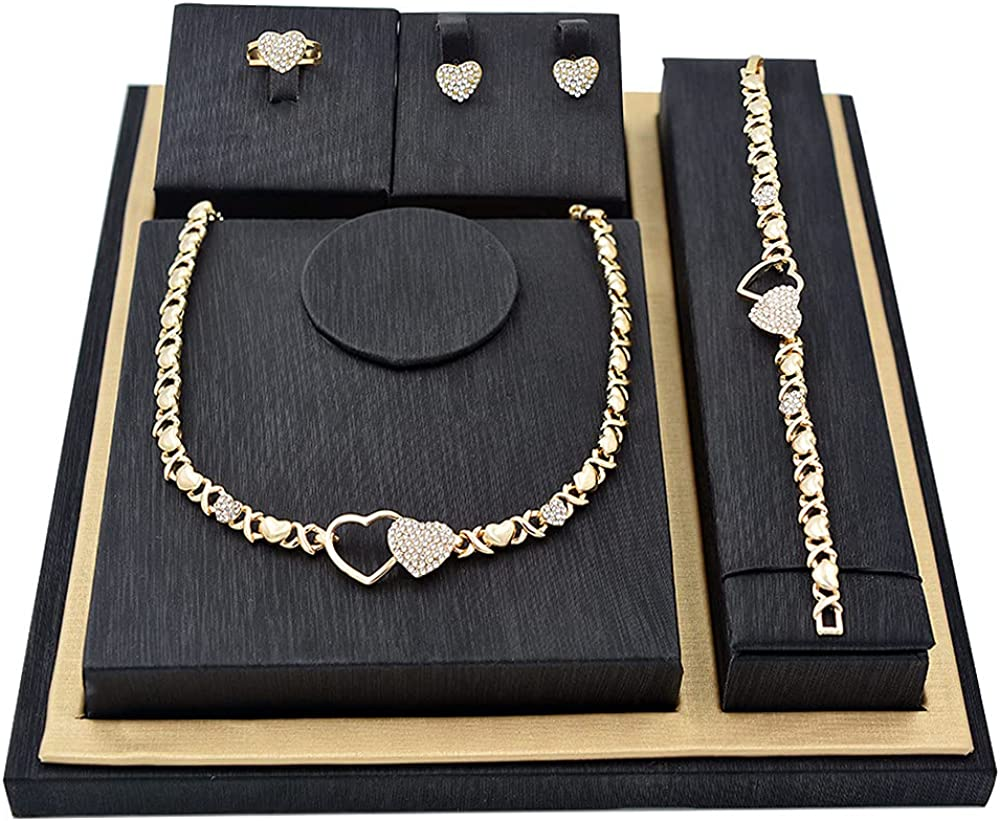 Giffor 14K Gold Bridesmaid Jewelry Set For Wedding Bridal Necklaces Choker with Earrings Bracelets Frienship Gifts