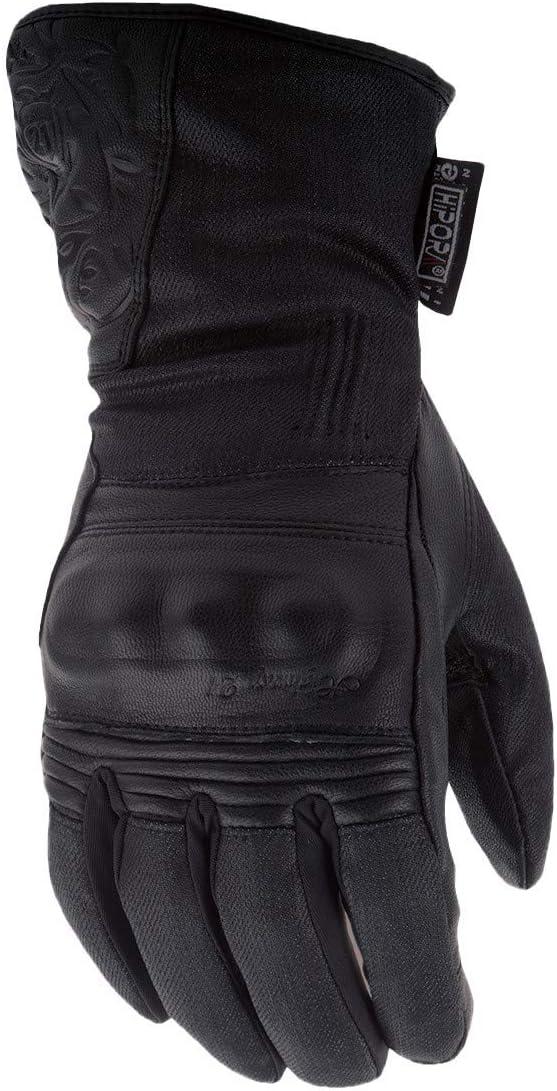 Women's Black Rose Gloves