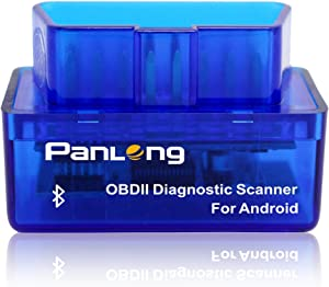 Panlong Bluetooth OBD2 Car Diagnostic Scanner Reader ELM 327 Check Engine Light for Android Work with Torque Pro Lite