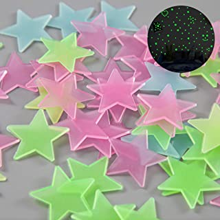 Fluorescent Stars Celling Decals Wall Stickers - 150pcs...