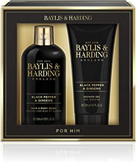 Baylis & Harding Signature Men's Black Pepper & Ginseng 2 Piece Set, 0.756 kilograms