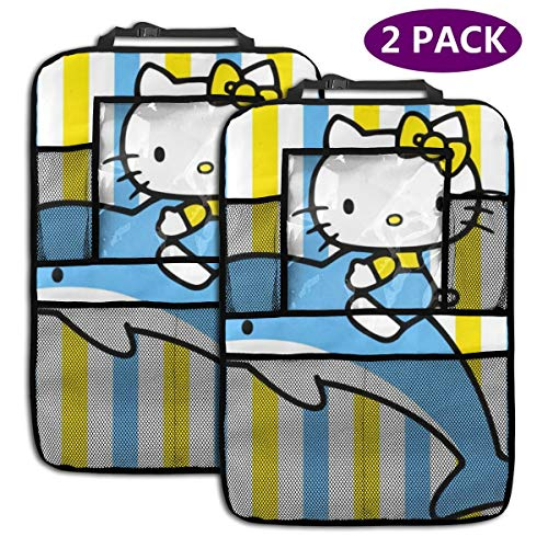 TBLHM Hello Kitty Lot de 2 Sacs de Rangement pour siège arrière de Voiture Motif Baleine