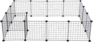 EnjoCho Fence for Dogs Aviary for Pets Fitting for Cats Door Playpen Cage Products Security Gate Supplies for Rabbit in Moscow (Black)