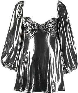 Luxury Fashion | Attico Women 192WCA41J005002 Silver Polyester Dress | Season Outlet