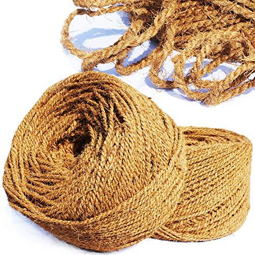 MW.Shop.24 Kokosseil/Kokosgarn Baumbinder - 4mm / 25m - 100{0b0b107f6e77d51fb2959c33086b28369e72f89e17253d0771a0658e99267a8d} BIOLOGISCH - Baumanbinder aus Kokosfaser - ungefärbte Naturfaser
