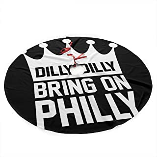 Dazhenfzd Dilly Dilly Bring On Philly Philadelphia Eagles Plush Fabric Christmas Tree Skirt 36 Inch Holiday Home Decor ,So...