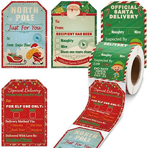 Etiquetas Navidad Adhesivas Rollo Marca Zonon