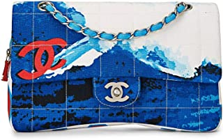 Red, White & Blue Fabric 'Chanel Surf' Flap Bag Medium (Pre-Owned)