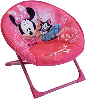 Fun House 712811 Disney Minnie-Silla Infantil Plegable, Rosa, à Partir de 3 ANS