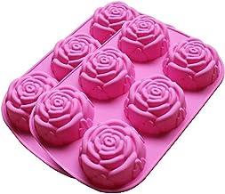 Ijsblokje Silicon rose kaarsen zeep mallen cake chocolade snoep jelly mal 6 holtes hars ontwerper DIY beton fondant klei m...
