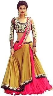 97d79a084d Indian Handicrfats Export Embroidered Lehenga Choli (Yellow)