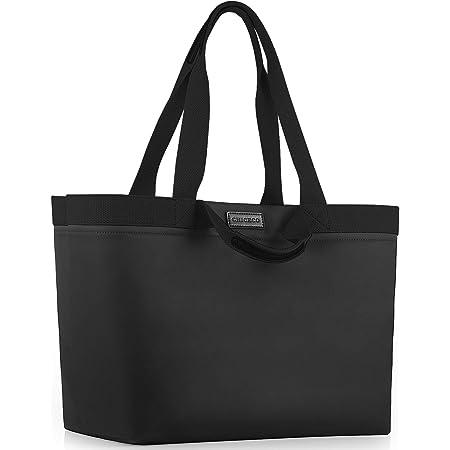 CHICECO Extra Große Shopper Handtasche für Damen Gross Arbeitstasche Reisetasche Wasserdicht (XL, Schwarz(mit 2 Steckfächern))