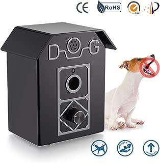 Ultrasonic Anti-Bark Device, Dog Bark Deterrents Waterproof Outdoor Bark Controller Safe for Dogs Pets and Human 50 Feet Range