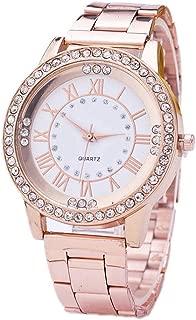 Yiwa Christmas Women Wristwatch, Steel Band Sport Leisure Watch Unique Fashion Diamond Dial Wristwatch