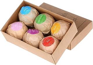 6 Bath Bombs Gift Set Super Large Each Best Gift Ideas for Women Teen Girls and Kids Handmade with Natural Vegan Shea & Co...