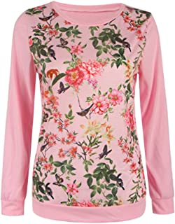 7TECH Fashion Rose Print Top T-Shirt, Pink