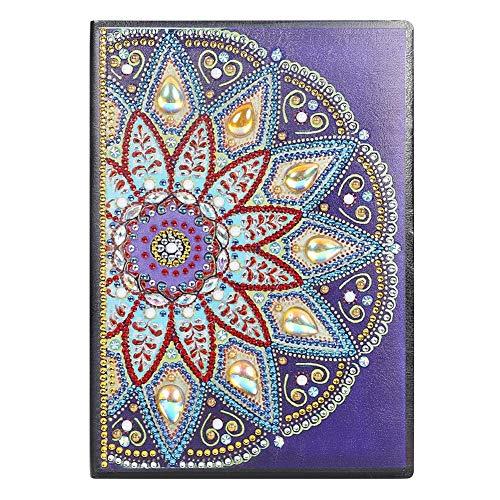 DIY diamante pintura cuaderno de bocetos A5 cuaderno de bocetos diario libro día del padre regalo cumpleaños chico regalo 50 páginas A5 libro mandala pintura día regalo de los niños