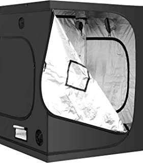 iPower Mylar Hydroponic Grow Tent for Indoor Plant Growing, 152 by 152 by 198 cm, Water-Resistant. Removable Mylar Floor T...