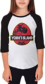 MMO-J Girl's Teenagers Yoshi's Park Island 3/4 Sleeve Raglan T-Shirts