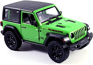 Jeep Wrangler Rubicon 4x4 Hard Top Off Road Exploration Diecast Model Toy Car Green