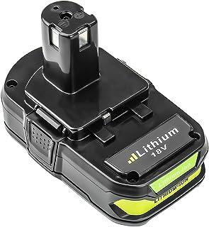 P102 2500mAh Replacement for Ryobi 18V Lithium Ion Battery P104 P105 P102 P103 P107 P108..