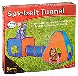 Idena 40118 - Spielzelt mit Tunnel für Kinder, für drinnen und draußen geeignet, ca. 265 x 95 x 100 cm