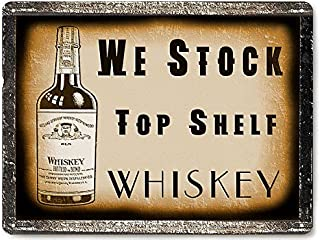 RETRO SIGNS BY J E MATRIX Whiskey Liquor Metal Sign/Vintage Style bar Pub Tavern Restaurant Mancave Wall Decor 376