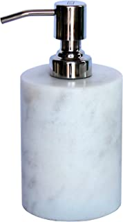 Top ten Xmas Holiday Gifts for Home - KLEO Soap/ Lotion Dispenser - Made of Genuine Indian Marble in White Color - Luxury Bathroom Accessories Bath Set