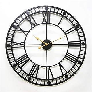 941a741fc YJSMXYD Reloj De Pared 80 Cm De Gran Tamaño De Metal De Diseño Moderno  Estilo Antiguo