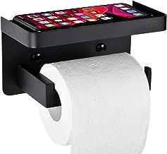 LYLIN Toiletpapierhouder zonder boren, met legplank, zelfklevend, SUS304 roestvrij staal, voor badkamer, toilet, keuken (z...